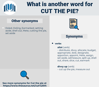 cut the pie, synonym cut the pie, another word for cut the pie, words like cut the pie, thesaurus cut the pie