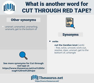 cut through red tape, synonym cut through red tape, another word for cut through red tape, words like cut through red tape, thesaurus cut through red tape