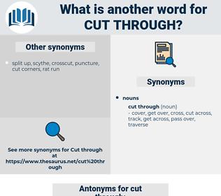 cut through, synonym cut through, another word for cut through, words like cut through, thesaurus cut through