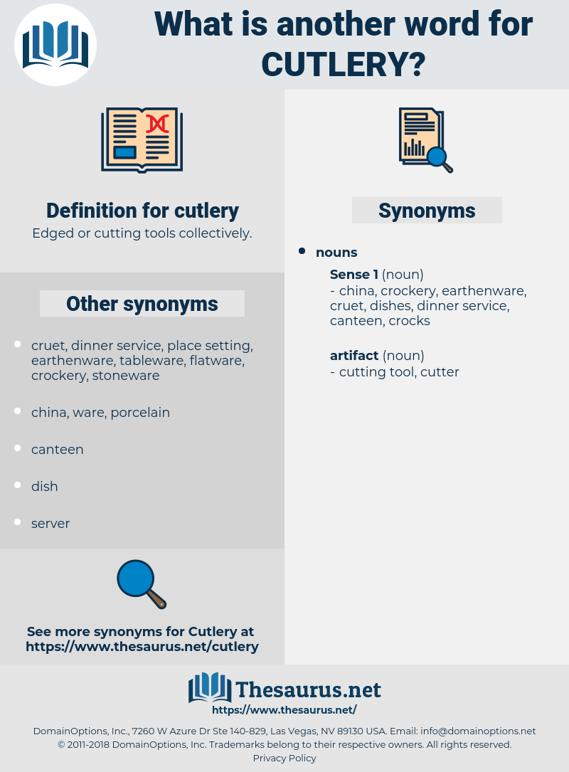 cutlery, synonym cutlery, another word for cutlery, words like cutlery, thesaurus cutlery