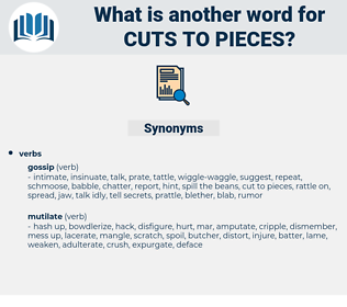 cuts to pieces, synonym cuts to pieces, another word for cuts to pieces, words like cuts to pieces, thesaurus cuts to pieces