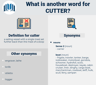 cutter, synonym cutter, another word for cutter, words like cutter, thesaurus cutter