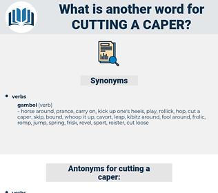 cutting a caper, synonym cutting a caper, another word for cutting a caper, words like cutting a caper, thesaurus cutting a caper