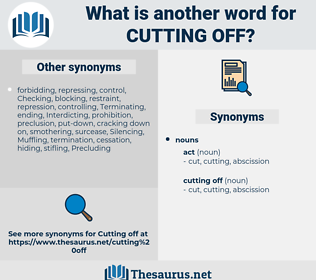 cutting off, synonym cutting off, another word for cutting off, words like cutting off, thesaurus cutting off
