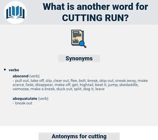 cutting run, synonym cutting run, another word for cutting run, words like cutting run, thesaurus cutting run