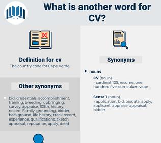 cv, synonym cv, another word for cv, words like cv, thesaurus cv