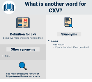 cxv, synonym cxv, another word for cxv, words like cxv, thesaurus cxv