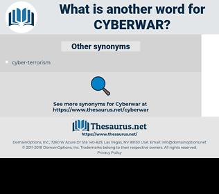 cyberwar, synonym cyberwar, another word for cyberwar, words like cyberwar, thesaurus cyberwar