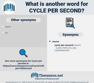 cycle per second, synonym cycle per second, another word for cycle per second, words like cycle per second, thesaurus cycle per second