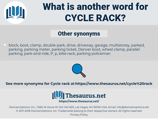 cycle rack, synonym cycle rack, another word for cycle rack, words like cycle rack, thesaurus cycle rack