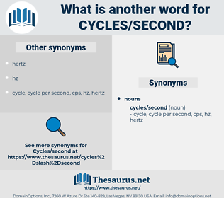 cycles/second, synonym cycles/second, another word for cycles/second, words like cycles/second, thesaurus cycles/second