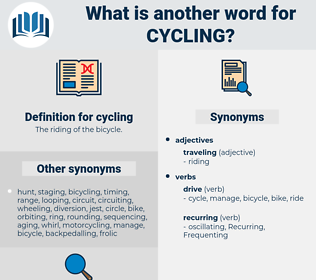 cycling, synonym cycling, another word for cycling, words like cycling, thesaurus cycling