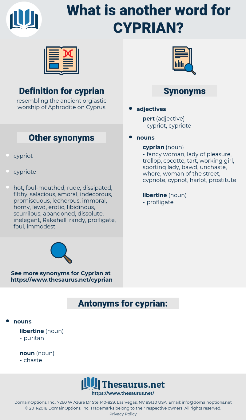 cyprian, synonym cyprian, another word for cyprian, words like cyprian, thesaurus cyprian