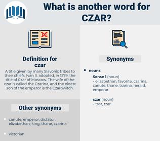 czar, synonym czar, another word for czar, words like czar, thesaurus czar