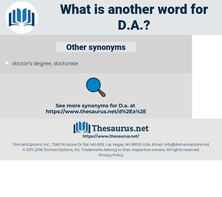 d.a., synonym d.a., another word for d.a., words like d.a., thesaurus d.a.