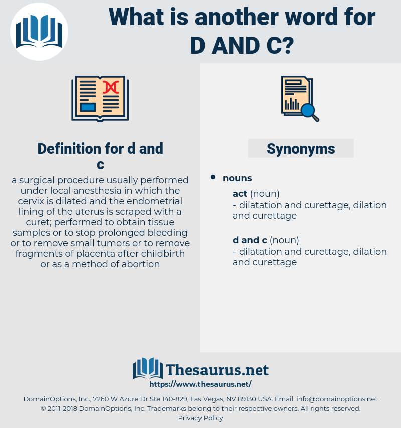 d and c, synonym d and c, another word for d and c, words like d and c, thesaurus d and c