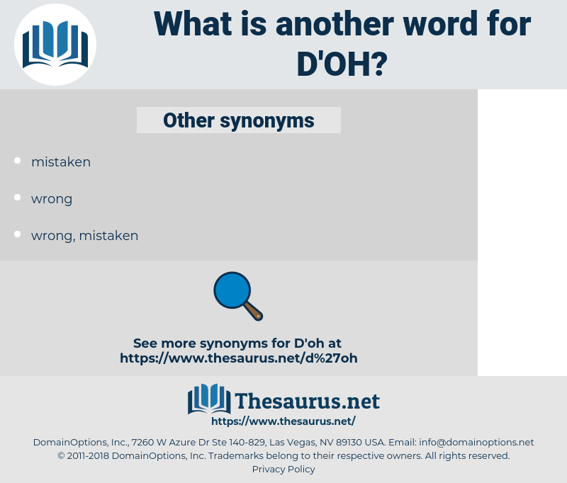 d'oh, synonym d'oh, another word for d'oh, words like d'oh, thesaurus d'oh