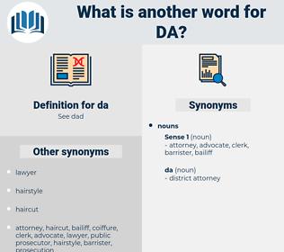 da, synonym da, another word for da, words like da, thesaurus da