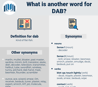 dab, synonym dab, another word for dab, words like dab, thesaurus dab