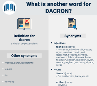 dacron, synonym dacron, another word for dacron, words like dacron, thesaurus dacron