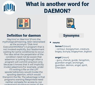 daemon, synonym daemon, another word for daemon, words like daemon, thesaurus daemon