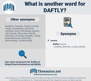 daftly, synonym daftly, another word for daftly, words like daftly, thesaurus daftly