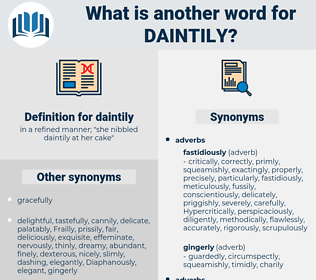 daintily, synonym daintily, another word for daintily, words like daintily, thesaurus daintily