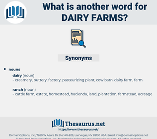 dairy farms, synonym dairy farms, another word for dairy farms, words like dairy farms, thesaurus dairy farms