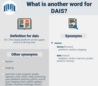 dais, synonym dais, another word for dais, words like dais, thesaurus dais