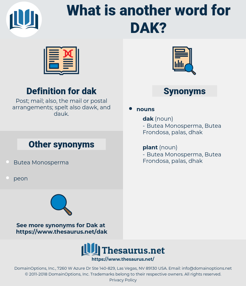 dak, synonym dak, another word for dak, words like dak, thesaurus dak