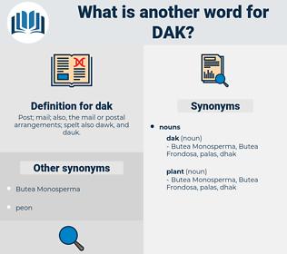 dak, synonym dak, another word for dak, words like dak, thesaurus dak