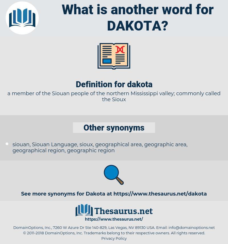 dakota, synonym dakota, another word for dakota, words like dakota, thesaurus dakota