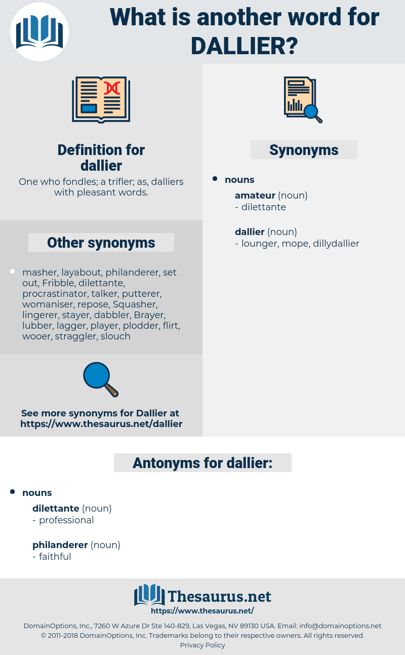 dallier, synonym dallier, another word for dallier, words like dallier, thesaurus dallier