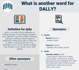 dally, synonym dally, another word for dally, words like dally, thesaurus dally
