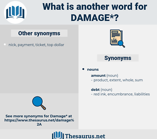 damage, synonym damage, another word for damage, words like damage, thesaurus damage