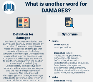 damages, synonym damages, another word for damages, words like damages, thesaurus damages