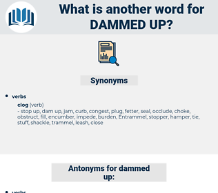 dammed up, synonym dammed up, another word for dammed up, words like dammed up, thesaurus dammed up