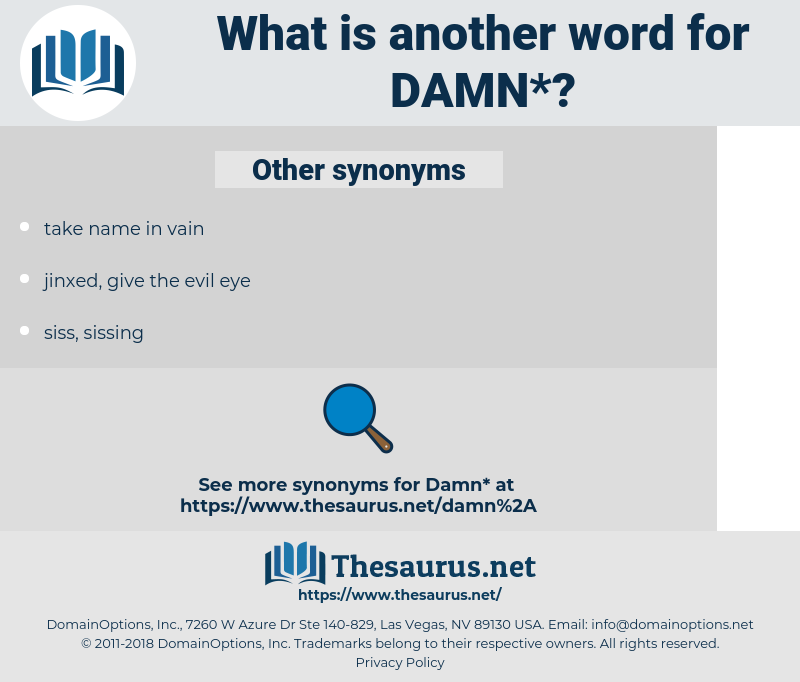 damn, synonym damn, another word for damn, words like damn, thesaurus damn