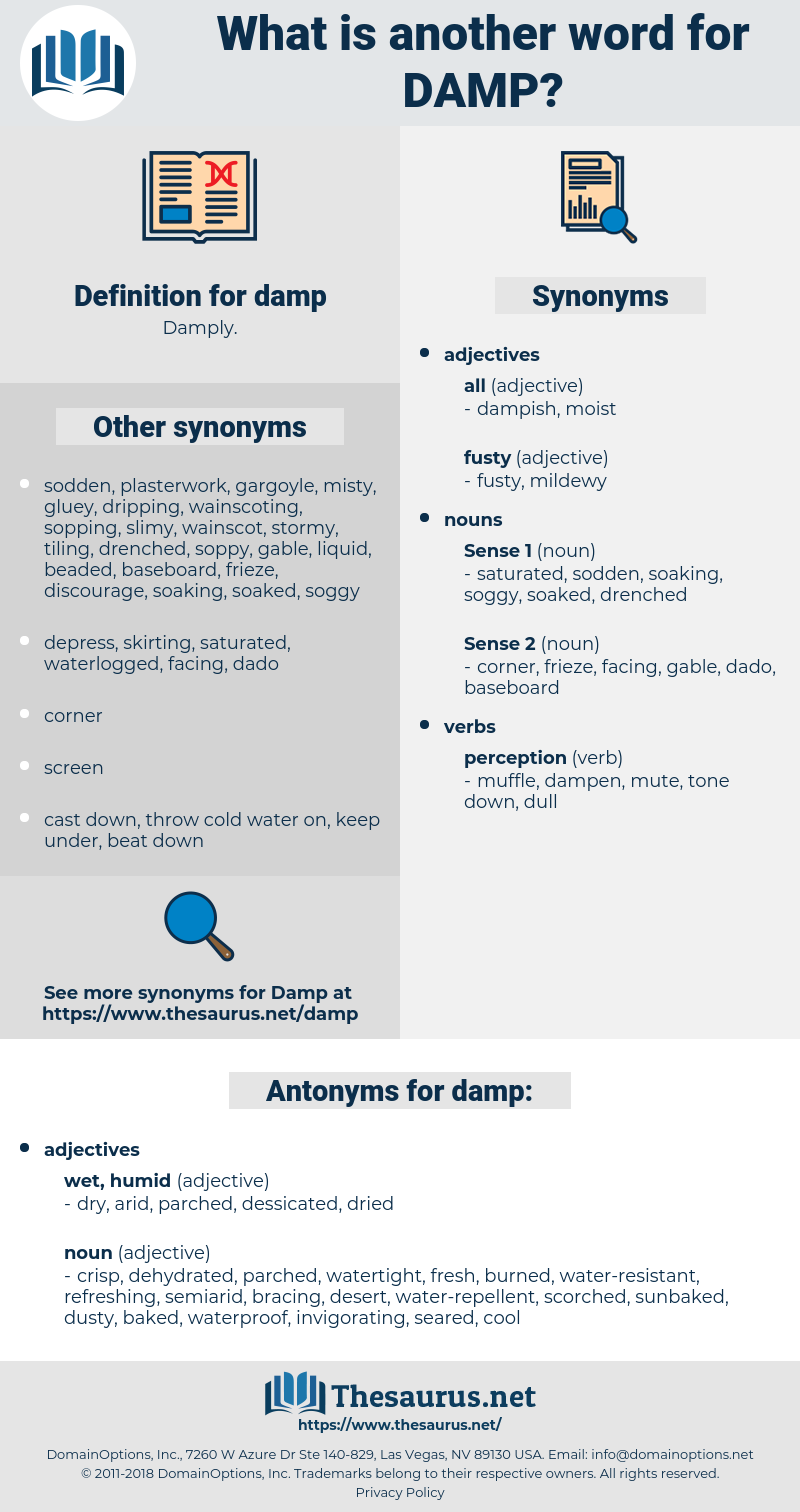 damp, synonym damp, another word for damp, words like damp, thesaurus damp