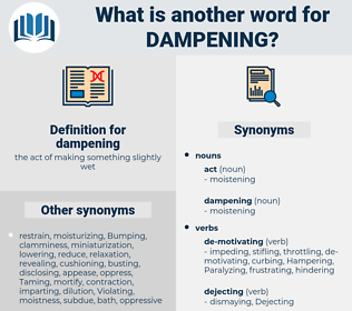 dampening, synonym dampening, another word for dampening, words like dampening, thesaurus dampening