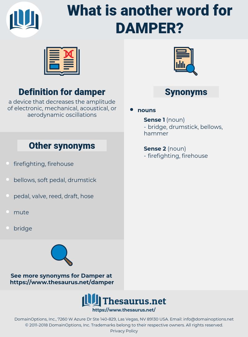 damper, synonym damper, another word for damper, words like damper, thesaurus damper