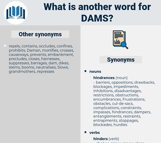 dams, synonym dams, another word for dams, words like dams, thesaurus dams