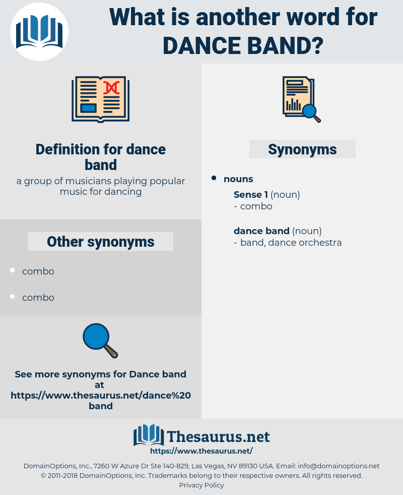 dance band, synonym dance band, another word for dance band, words like dance band, thesaurus dance band
