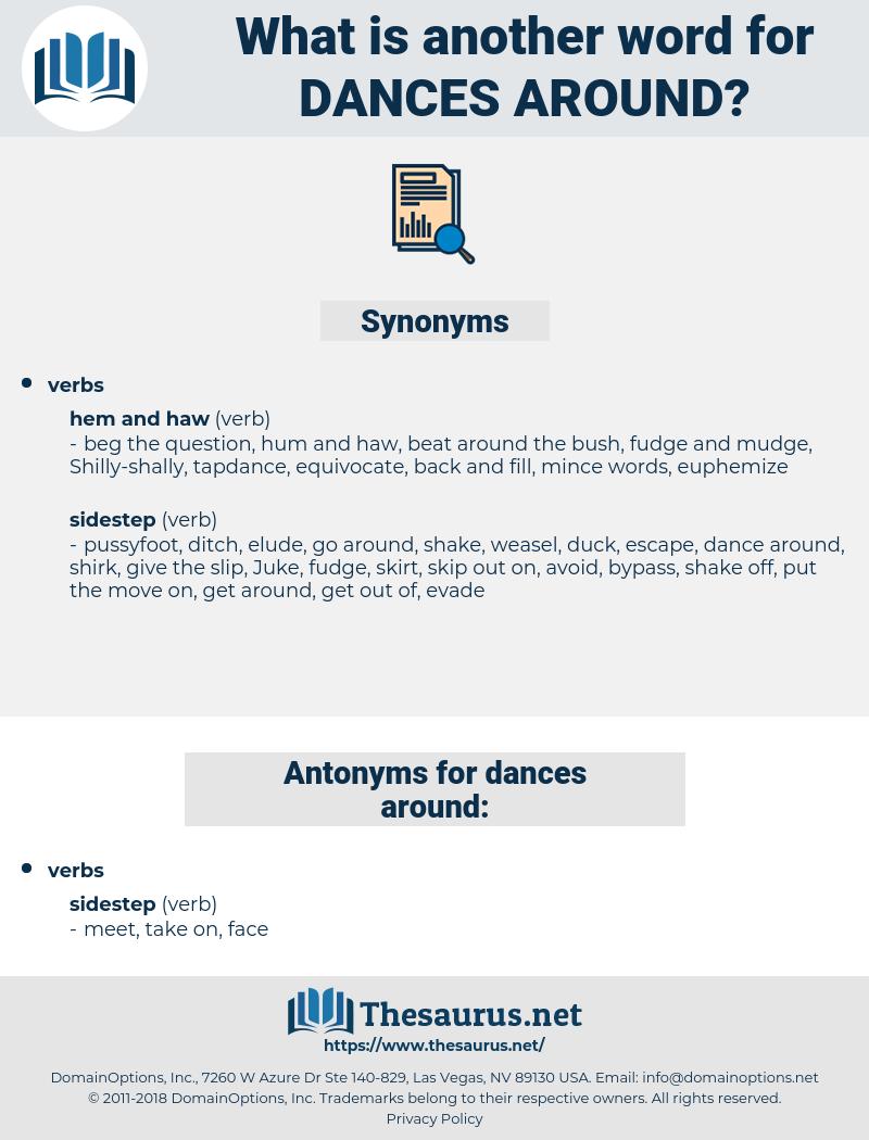 dances around, synonym dances around, another word for dances around, words like dances around, thesaurus dances around