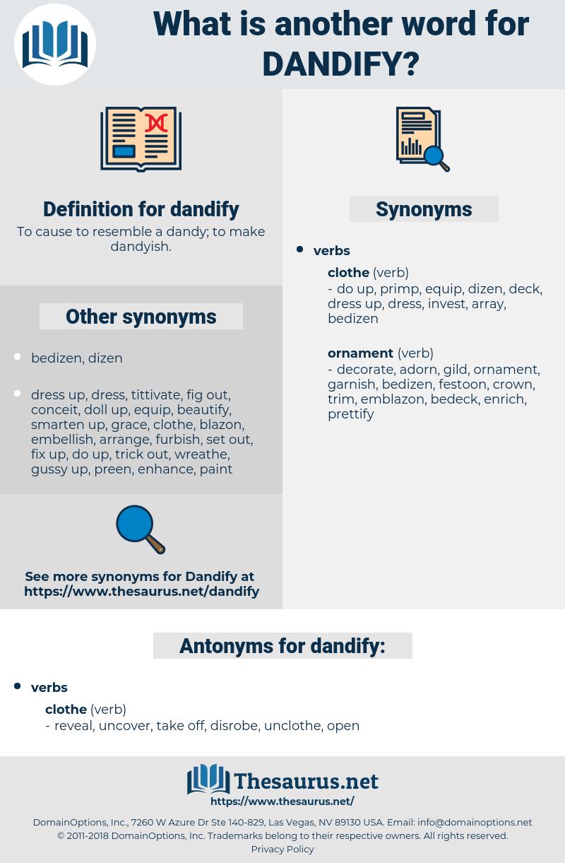 dandify, synonym dandify, another word for dandify, words like dandify, thesaurus dandify