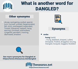 Dangled, synonym Dangled, another word for Dangled, words like Dangled, thesaurus Dangled