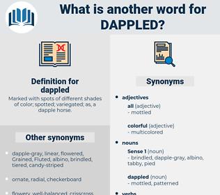 dappled, synonym dappled, another word for dappled, words like dappled, thesaurus dappled