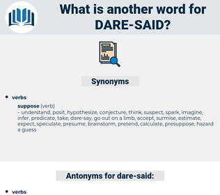dare said, synonym dare said, another word for dare said, words like dare said, thesaurus dare said