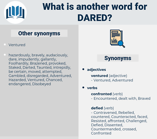 dared, synonym dared, another word for dared, words like dared, thesaurus dared