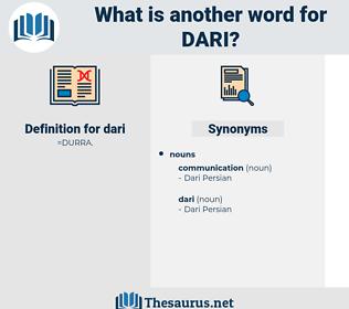 dari, synonym dari, another word for dari, words like dari, thesaurus dari
